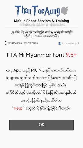 TTA Mi Myanmar Font 9 5 to 10 app (apk) free download for