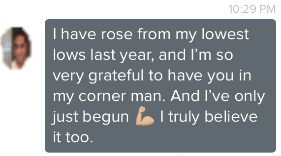 rose from my lowest lows last year