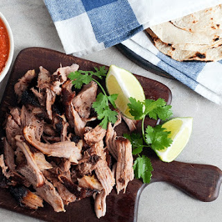 Achiote Roasted Pork with Tomato-Habanero Salsa Recipe