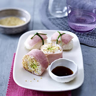 Ham Sushi and Maki.
