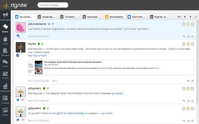 Rignite Social Post Extension