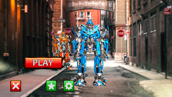 Robots Fighting In Street 4