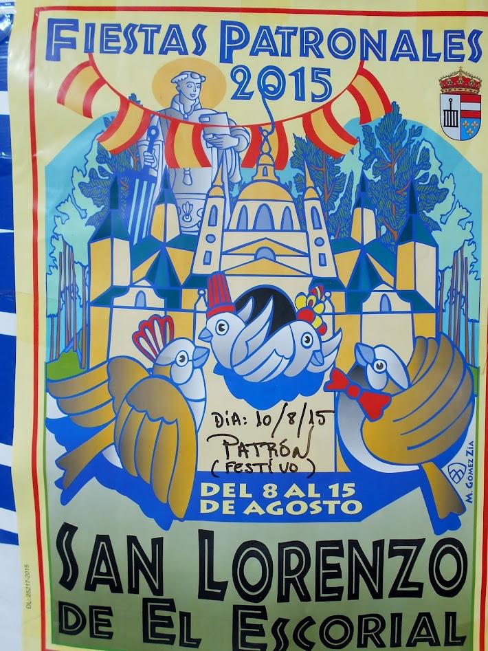 cartel fiestas patronales 2015 San Lorenzo de El Escorial