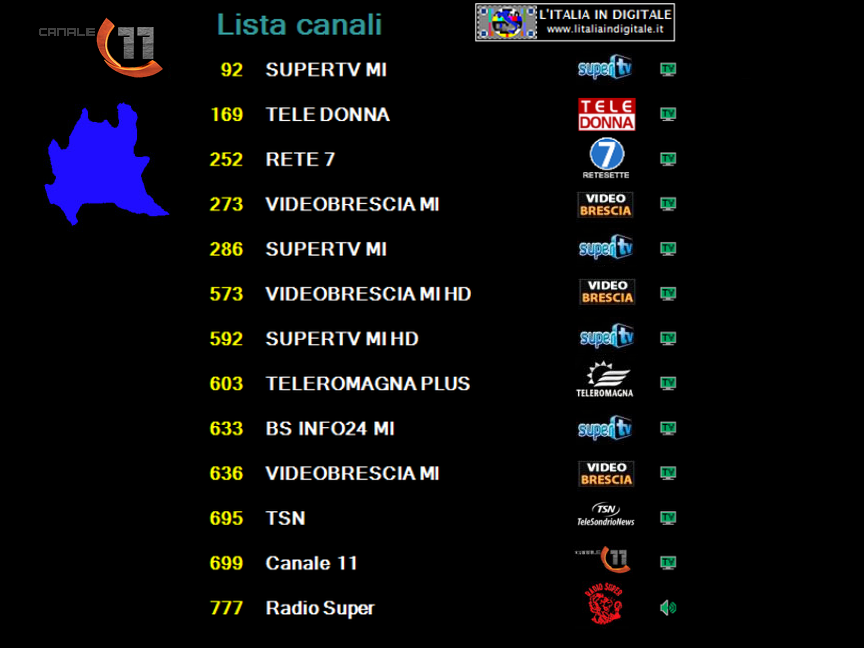 MUX CANALE 11