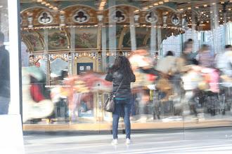 Photo: Leena taking a photo of Jane's Carousel.