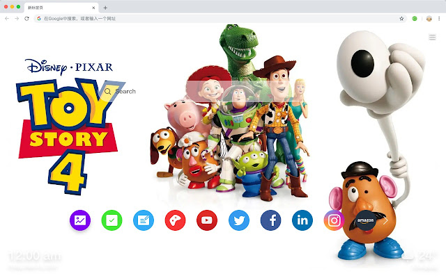 Toy Story 4 Popular Movies HD New Tabs Themes