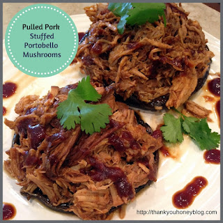 Pulled Pork Stuffed Portobellos