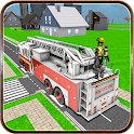 City Fire Fighter Truck icon