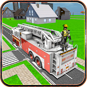City Fire Fighter Truck
