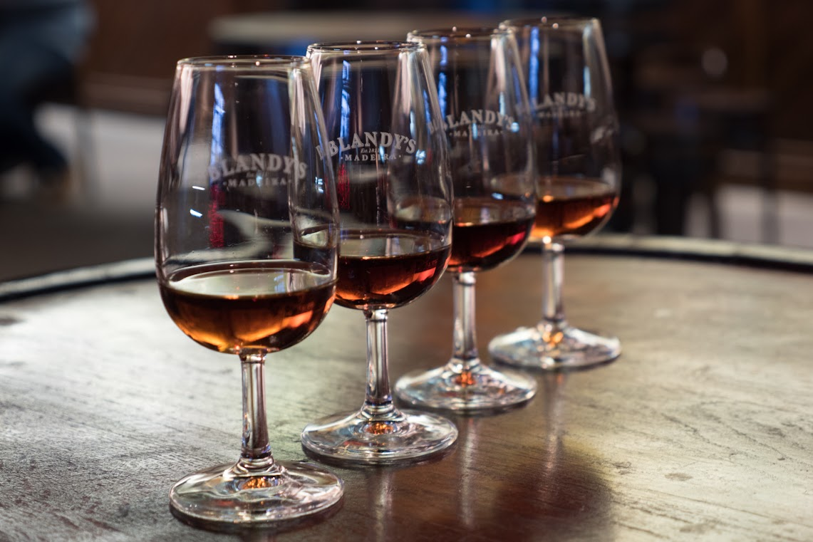 Blandy's Madeira wine tasting set