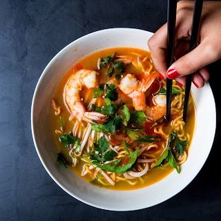 Aromatic Shrimp and Noodle Medicine Soup.