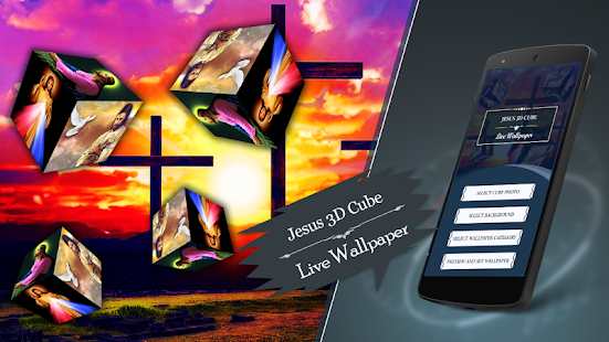 3d Jesus Cube Live Wallpaper Apps On Google Play