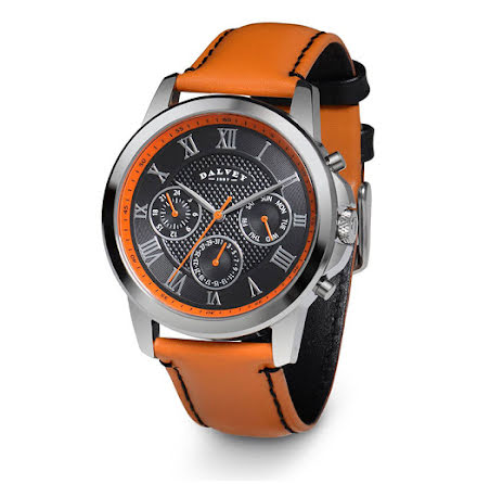 Dalvey Torque Wristwatch Black/Orange