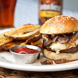 Mushroom, Onion & Swiss Burger Recipe