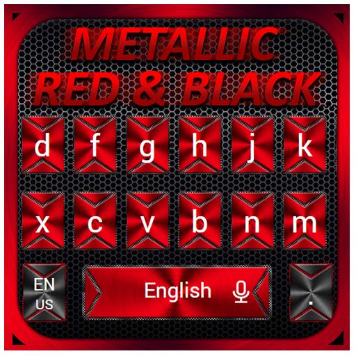 Super Cool Black Red Keyboard Theme