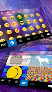 Coloring Unicorn Keyboard Theme - náhled