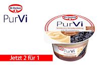 Angebot für 2 für 1 PurVi Vollkorn-Grießpudding Brombeere im Supermarkt