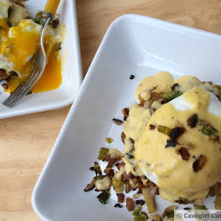 Crabcake Benedict with a Dijon Hollandaise.