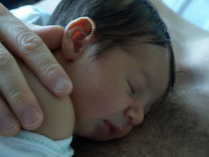 Photo: Clark and Daddy take a nap. Doesn't he look peaceful and happy?