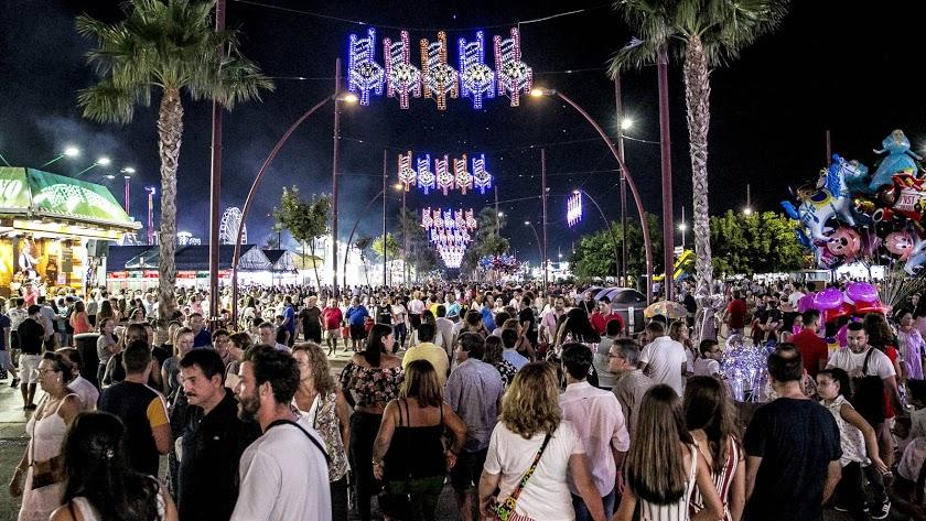 Imagen de archivo de la Feria de Almería.
