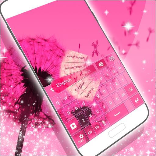 粉紅色的鍵盤為銀河S3的迷你 個人化 App LOGO-硬是要APP