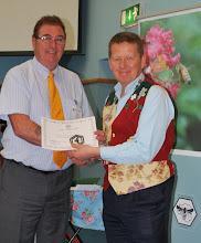 Photo: David Shannon receiving his judges certificate