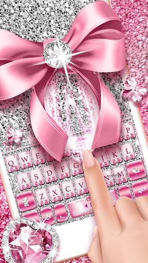 Pink Bow Diamond Luxury Keyboard Theme 1.0 1