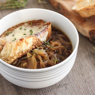 Roasted French onion soup.