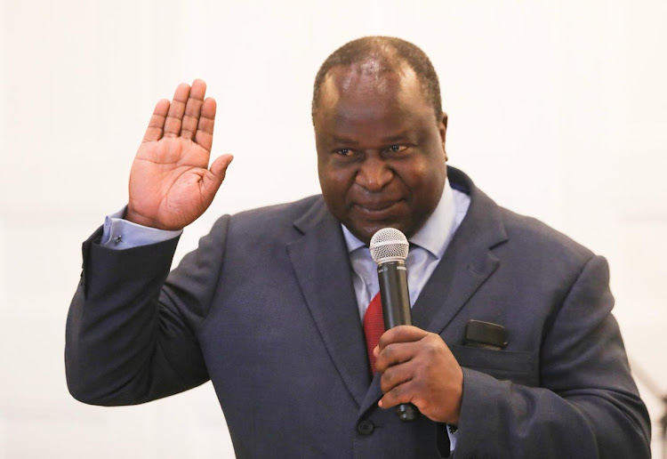 Tito Mboweni gets sworn in as the country's new finance minister on October 9 2018. Picture: ESA ALEXANDER