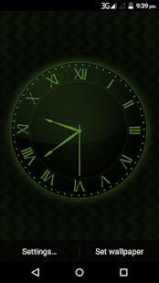 Free Black Clock Live Wallpaper - náhled