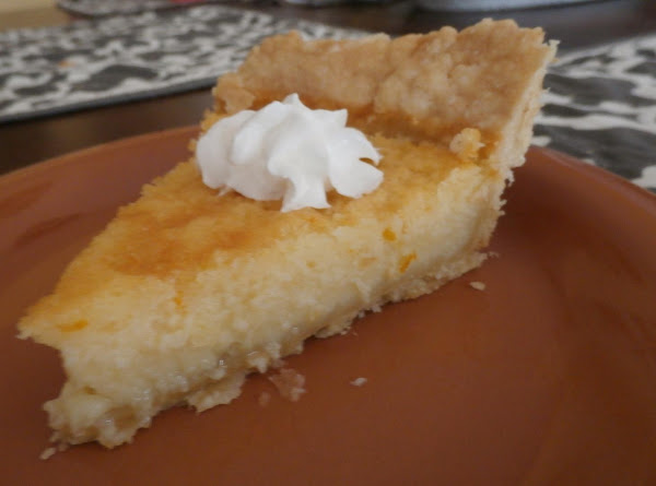 Buttermilk Orange Custard Pie Recipe