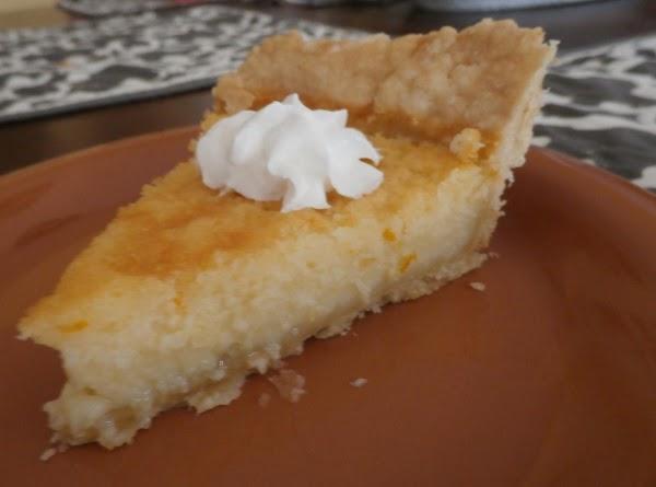Buttermilk Orange Custard Pie Recipe