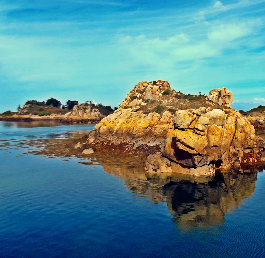 Rock in water by Dobrin Anca - Landscapes Waterscapes ( sky, waterscape, sea, rock, brittany,  )
