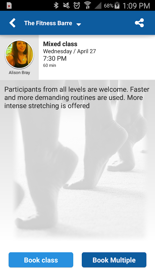 Fitness Barre- screenshot