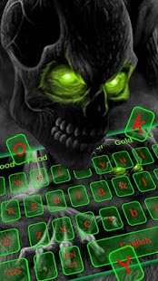 Zelená lebka klávesnice - náhled