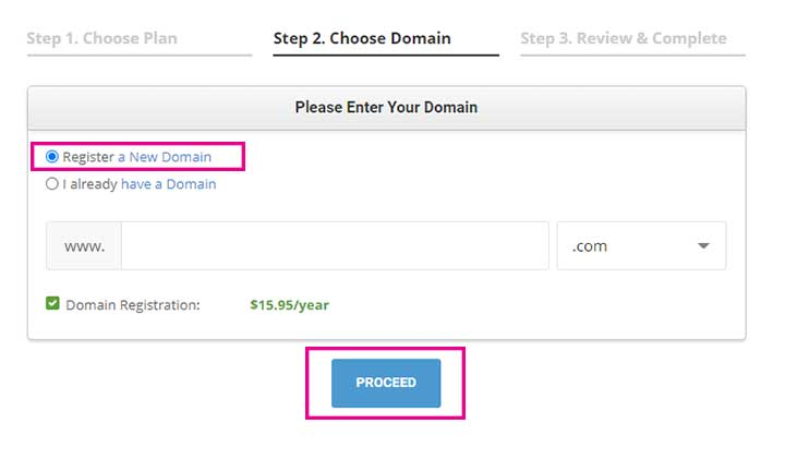 Buy SiteGround Hosting domain