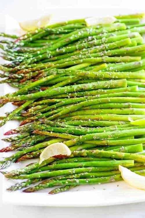 "Asparagus Za'atar ""Za'atar is a blend of dried herbs with kind of..."