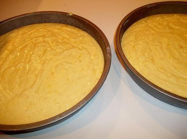 Slowly add flour mixture until well mixed. Divide batter between 2 pans. Bake for...