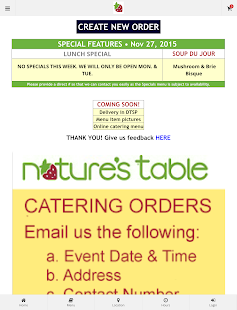 Nature's Table DTSP Ordering- screenshot thumbnail