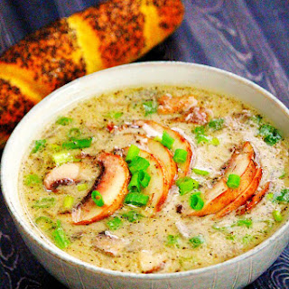 Gluten-Free Vegan Creamy Mushroom Soup.