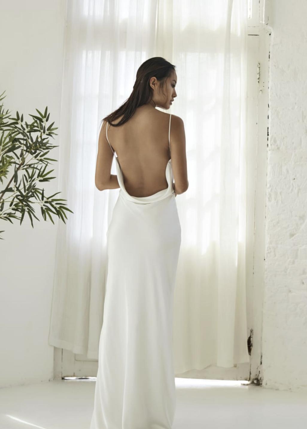 slip wedding dress from Bo & Luca