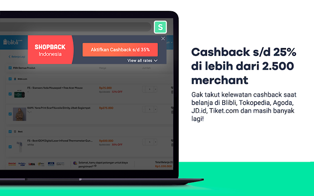 ShopBack Button - Cashback & Kupon