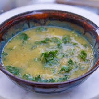 Kale, Leek, and Potato Soup.