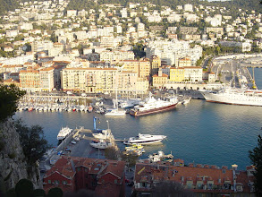 Photo: On the opposite side of the hill is the Port de Nice.