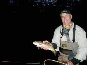 Photo: Spinners fall right at dusk and can provide some of the best fishing of the day- Mad River Ohio