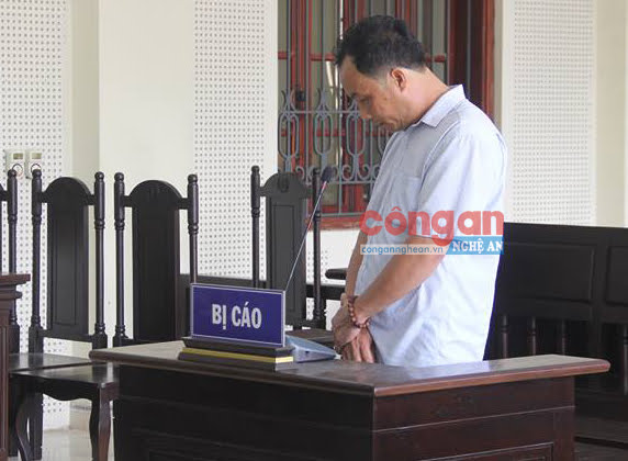 Bị cáo Đinh Văn Kiểu tại phiên tòa phúc thẩm