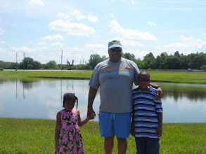 Photo: Kaleya, Ron & Jihad on their morning walk June 2