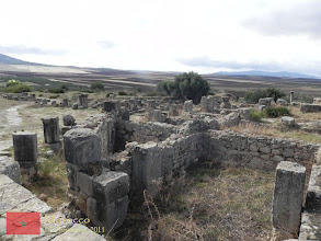 Photo: part of Volubilis' structures damaged by the 1755 Lisbon earthquake