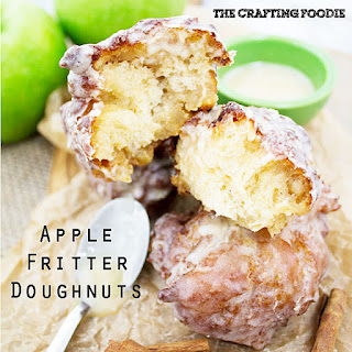 Apple Fritter Doughnuts - For Tastes of Lizzy T.
