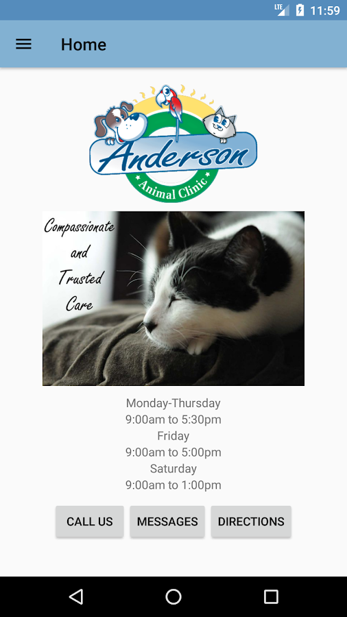 Anderson Animal Clinic- screenshot